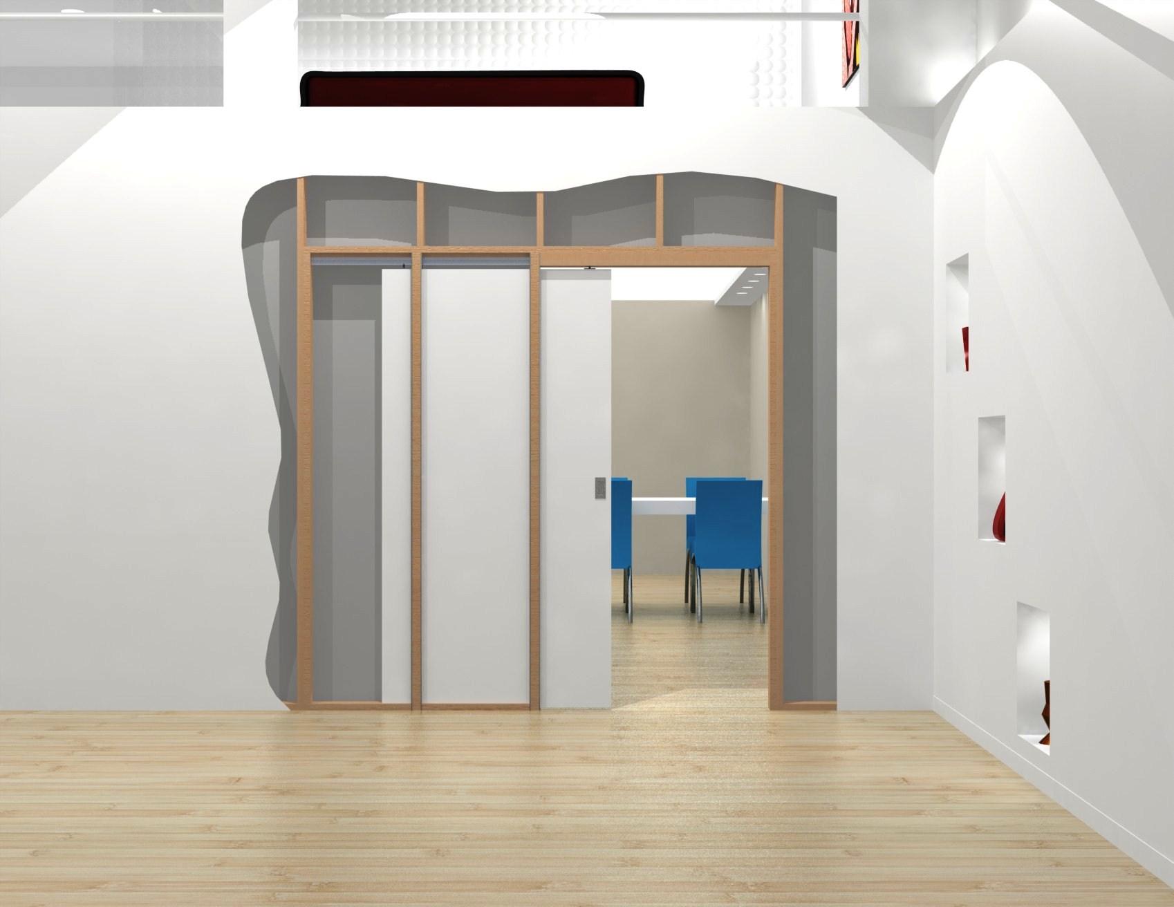 Раздвижные задвижные в стену двери, межкомнатные двери 35