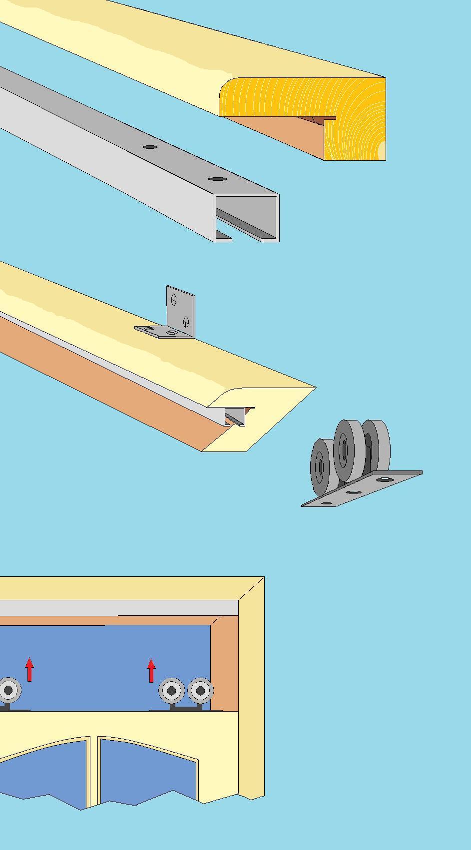 Раздвижные двери своими руками : монтаж, установка, изготовление 7