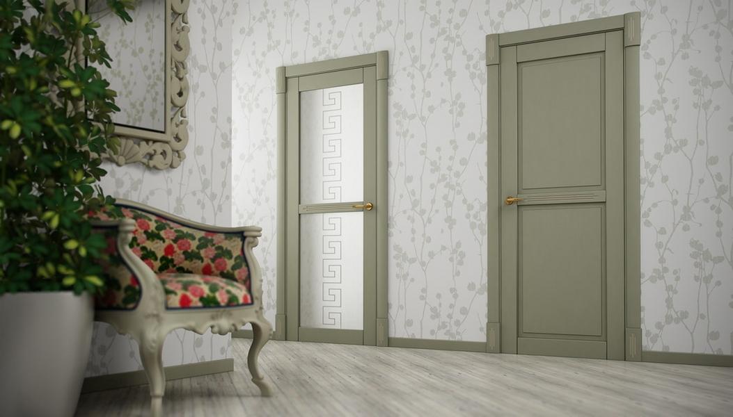 Межкомнатные двери цвет олива фото