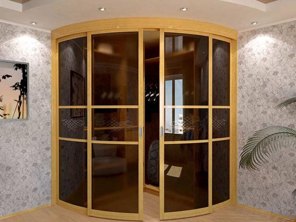 Радиусные стеклянные двери на заказ в москве или готовые из .